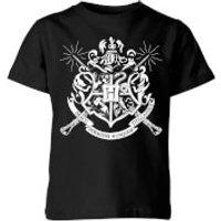Harry Potter Hogwarts House Crest Kids' T-Shirt - Black - 11-12 Years - Black