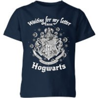 Harry Potter Waiting For My Letter From Hogwarts Kids' T-Shirt - Navy - 3-4 Years - Navy