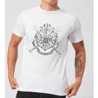 Harry Potter Hogwarts House Crest Men's T-Shirt - White - XXL - White - House Gifts
