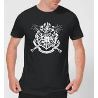 Harry Potter Hogwarts House Crest Mens T-Shirt - Black - L - Black