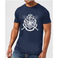 Harry Potter Hogwarts House Crest Men's T-Shirt - Navy - XXL - Navy - House Gifts