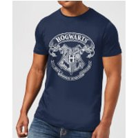 Harry Potter Hogwarts Crest Mens T-Shirt - Navy - M - Navy
