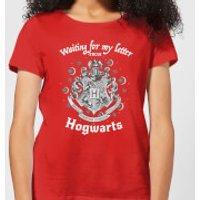Harry Potter Waiting For My Letter From Hogwarts Women's T-Shirt - Red - M - Red