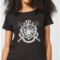 Harry Potter Hogwarts House Crest Women's T-Shirt - Black - L - Black