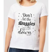 Harry Potter Don't Let The Muggles Get You Down Women's T-Shirt - White - XXL - White - Harry Potter Gifts