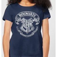 Harry Potter Hogwarts Crest Women's T-Shirt - Navy - L - Navy