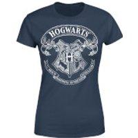 Harry Potter Hogwarts Crest Women's T-Shirt - Navy - L - Navy
