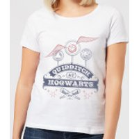 Harry Potter Quidditch At Hogwarts Women's T-Shirt - White - XXL - White - Harry Potter Gifts