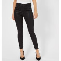 J Brand Women's Alana High Rise Crop Skinny Jeans - Fearless - W30 - Black