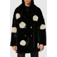 Anne Vest Peony Pom Pom Jacket - Black/white