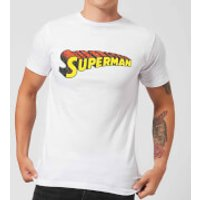 DC Superman Telescopic Crackle Logo Men's T-Shirt - White - XXL - White - Superman Gifts