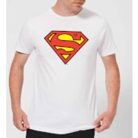 DC Originals Official Superman Shield Men's T-Shirt - White - S - White - Superman Gifts