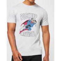 DC Originals Superman Pickup Artist Men's T-Shirt - Grey - XXL - Grey - Superman Gifts