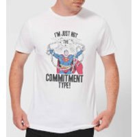 DC Originals Superman Commitment Type Men's T-Shirt - White - XXL - White - Superman Gifts