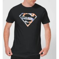 DC Originals Floral Superman Men's T-Shirt - Black - XL - Black - Superman Gifts