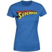 DC Superman Telescopic Crackle Logo Women's T-Shirt - Royal Blue - XXL - Royal Blue - Superman Gifts