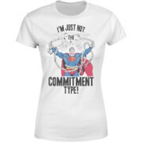 DC Originals Superman Commitment Type Women's T-Shirt - White - XXL - White - Superman Gifts