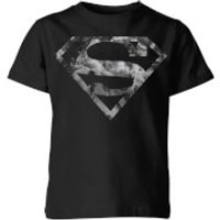 DC Originals Marble Superman Logo Kids' T-Shirt - Black - 9-10 Years - Black - Dc Comics Gifts