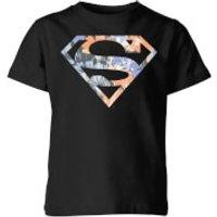 DC Originals Floral Superman Kids' T-Shirt - Black - 3-4 Years - Black
