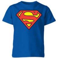 DC Originals Official Superman Shield Kids' T-Shirt - Royal Blue - 11-12 Years - Royal Blue - Dc Comics Gifts
