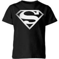 DC Originals Superman Spot Logo Kids' T-Shirt - Black - 11-12 Years - Black - Dc Comics Gifts