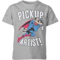 DC Originals Superman Pickup Artist Kids' T-Shirt - Grey - 11-12 Years - Grey - Artist Gifts
