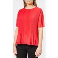 PS by Paul Smith Women's Pleated Top - Fusia - IT 40/UK 8 - Pink