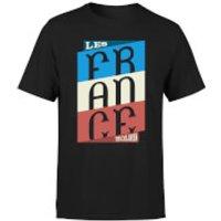 Les Tricolores Mens T-Shirt - Black - M - Black