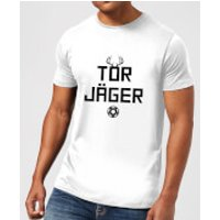 TOR JAGER Men's T-Shirt - White - XXL - White - Jager Gifts