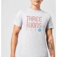 Three Lions Men's T-Shirt - Grey - S - Grey