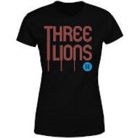 Three Lions Women's T-Shirt - Black - S - Black