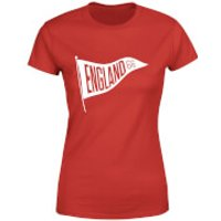 England Pennant Women's T-Shirt - Red - XXL - Red - England Gifts