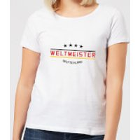 Weltmeister Women's T-Shirt - White - 4XL - White