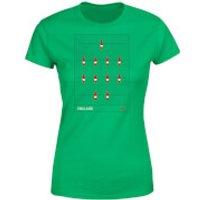 England Fooseball Women's T-Shirt - Kelly Green - XXL - Kelly Green - England Gifts