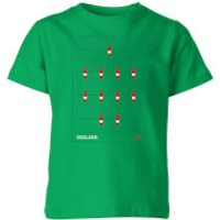 England Fooseball Kids' T-Shirt - Kelly Green - 3-4 Years - Kelly Green - England Gifts