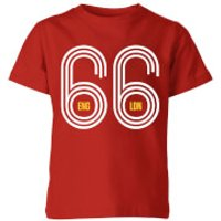 England 66 Kids' T-Shirt - Red - 3-4 Years - Red