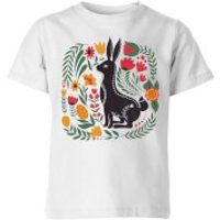 My Little Rascal Scandi Rabbit Pattern Kids' T-Shirt - White - 11-12 Years - White