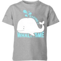 My Little Rascal Having A Whale Of A Time Kids' T-Shirt - Grey - 11-12 Years - Grey - Whale Gifts