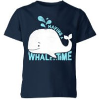 My Little Rascal Having A Whale Of A Time Kids' T-Shirt - Navy - 11-12 Years - Navy - Whale Gifts