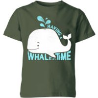 My Little Rascal Having A Whale Of A Time Kids' T-Shirt - Forest Green - 9-10 Years - Forest Green