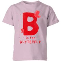 My Little Rascal B Is For Butterfly Kids' T-Shirt - Baby Pink - 11-12 Years - Baby Pink - Baby Gifts