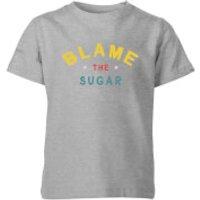 My Little Rascal Blame The Sugar Kids' T-Shirt - Grey - 11-12 Years - Grey - Sugar Gifts