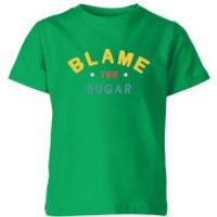 My Little Rascal Blame The Sugar Kids' T-Shirt - Kelly Green - 11-12 Years - Kelly Green - Sugar Gifts