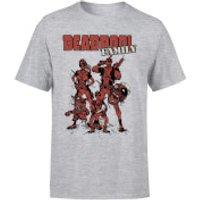 Marvel Deadpool Family Group Men's T-Shirt - Grey - S - Grey