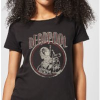 Marvel Deadpool Vintage Circle Women's T-Shirt - Black - XXL - Black - Vintage Gifts