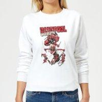 Marvel Deadpool Family Corps Women's Sweatshirt - White - L - White