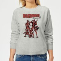 Marvel Deadpool Family Group Women's Sweatshirt - Grey - M - Grey