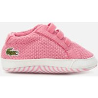 Lacoste Babies' L.12.12 Crib 318 1 Trainers - Pink/White - UK 1 Baby - Pink