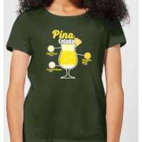 Infographic Pinacolada Women's T-Shirt - Forest Green - XL - Forest Green