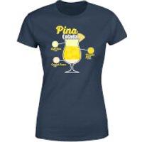 Infographic Pinacolada Women's T-Shirt - Navy - XXL - Navy